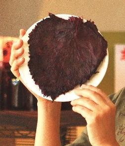 でかーーーい!一般サイズの3倍!赤しその梅酢漬